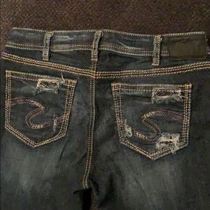 Silver Suki Super Skinny dark wash jeans